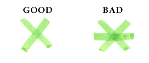 Examples of good and bad Celtic knot crossings